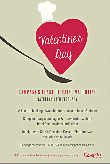 campari house, valentine's day, romance, breakfast, lunch, dinner, restaurant, roof top bar and dining, hardware lane, city, italian menu