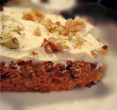carrot cake cream cheese walnut delicious
