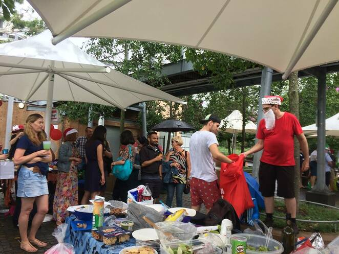 Outdoor Christmas parties are a great idea for Christmas lunch