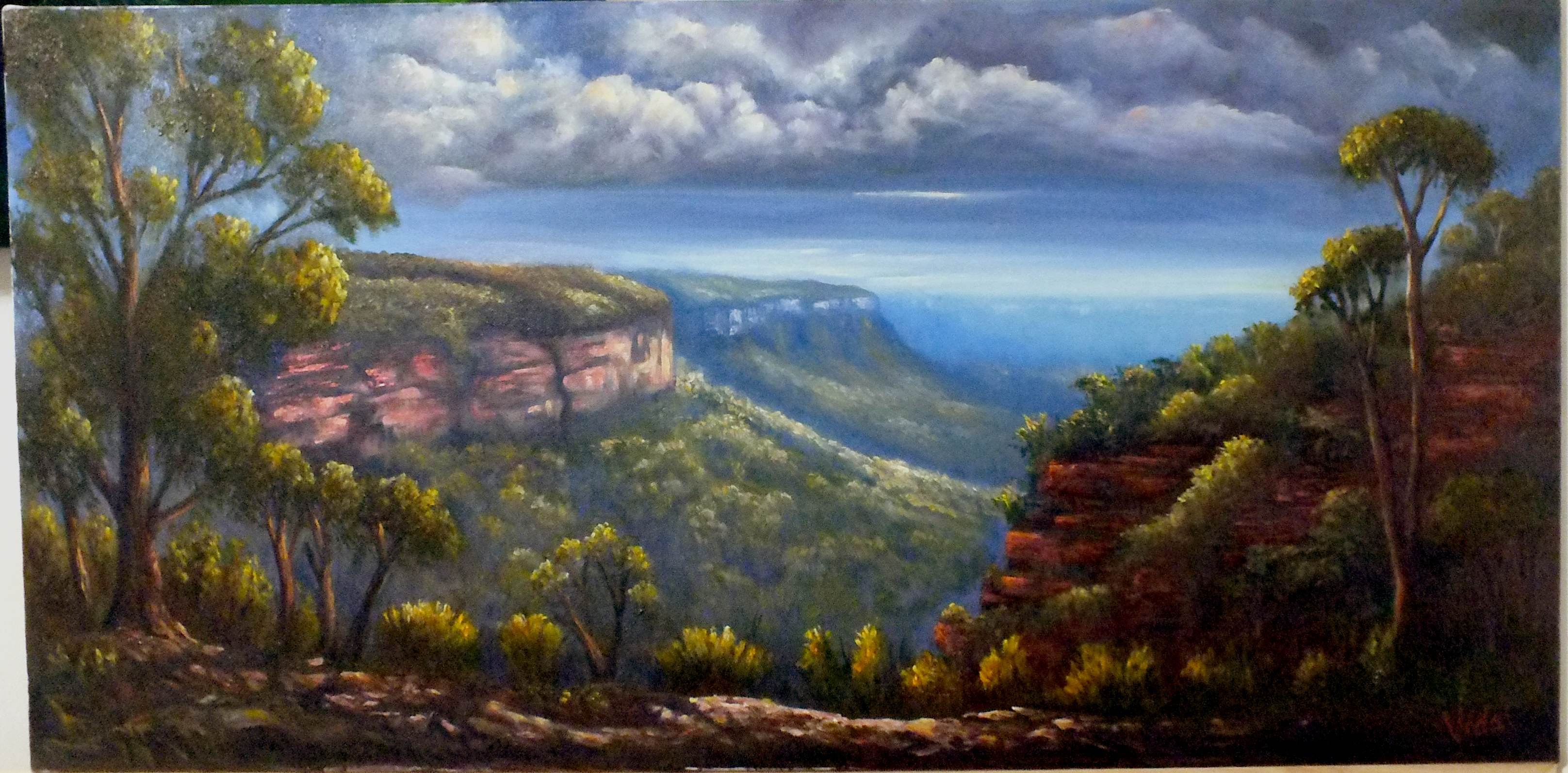 Landscape painting for beginners in oils and acrylics sydney for Landscaping courses adelaide