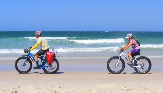 The are lots of cycle adventure opportunities across Australia