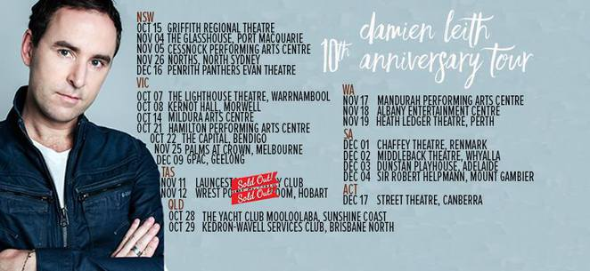 Damien Leith, The Winners Journey, 10th Anniversary Tour, Celtic, Easy Listening, Pop, Traditional Folk, The Yacht Club, Mooloolaba