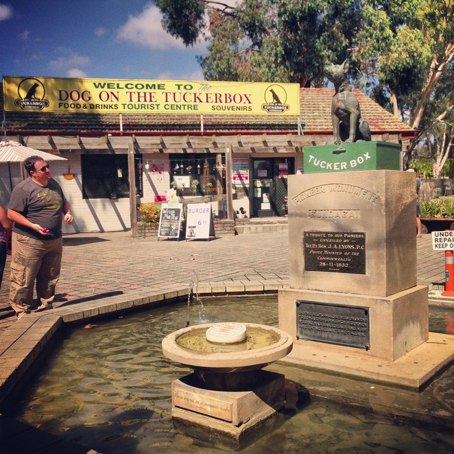 dog on the tuckerbox, nsw, road trip, gundagai