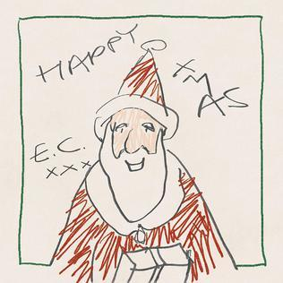 eric clapton, happy christmas, album, cover