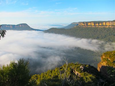 Fog in the Blue Mountains