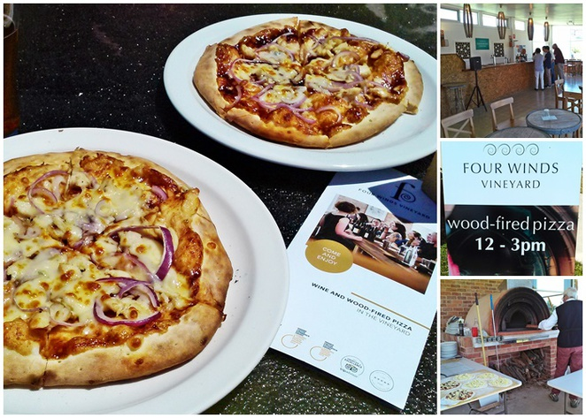 four winds vineyard, wood fired pizzas, canberra wine district, pizza, wine, beer, food, lunch, weekends, eat,