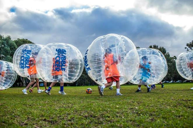 free bubble soccer, bubble soccer, free, 88 o'connell, Adelaide, school holidays