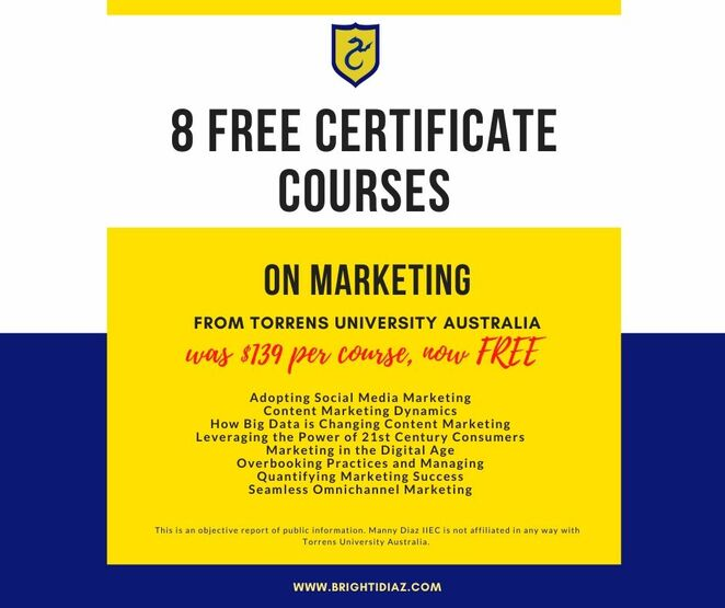 free courses, online learning, professonal development, study for free, free course on marketing, free certificate on marketing