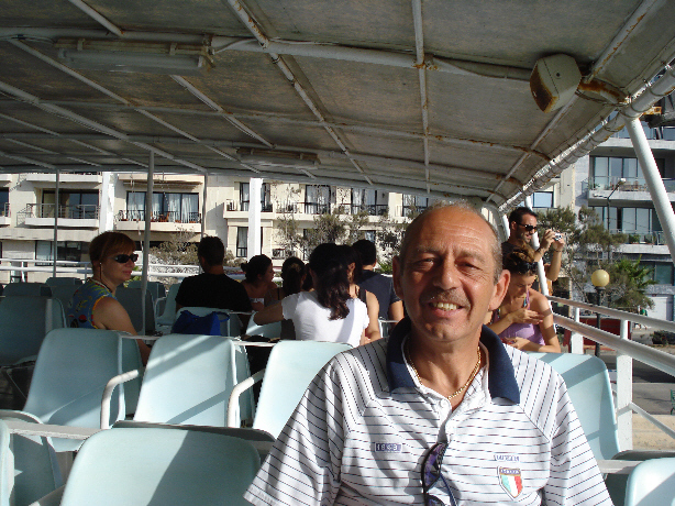Hubby Colin Aboard Harbour Cruiseboat