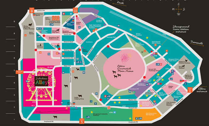 Perth Royal Show Map Pre Sales Discounted Tickets to the Royal Show   Perth