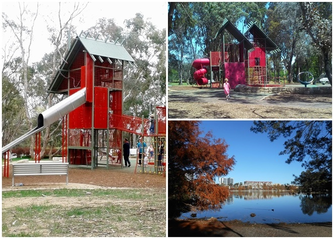 john knight memorial park, playground, lake ginnderra, ACT, kids, children, families, picnics, birthday parties, things to do in north canberra, ACT, lakes, walks, bike paths,