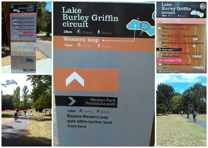 lake burley griffin cycling loop, canberra, western loop, ACT, bike riding, bike paths, walking paths,