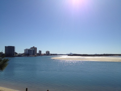 Looking over the Maroochy River