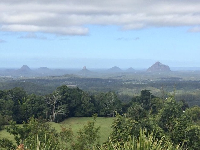 Mary Cairncross Scenic Reserve overlooks the Glasshouse Mountains