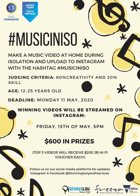 musiciniso 2020, music competition 2020, music video competition 2020, freeza, victorian government, city of stonnington, stonnington youth, iso competition, covid-19, win jb hi fi vouchers, original song or cover