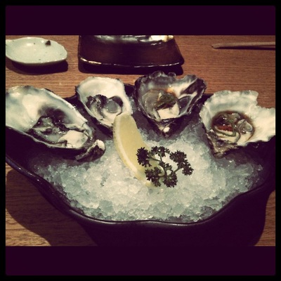 Oysters @ Sono (Photo instagram @neelsmcgee)