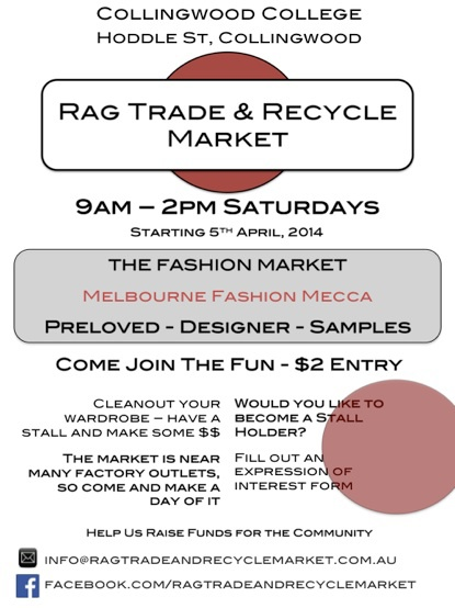 rag trade and recycle market, markets melbourne, fashion markets melbourne, second hand markets melbourne