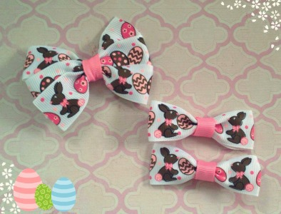 Rock a Buy Boutique Markets Easter hair clips