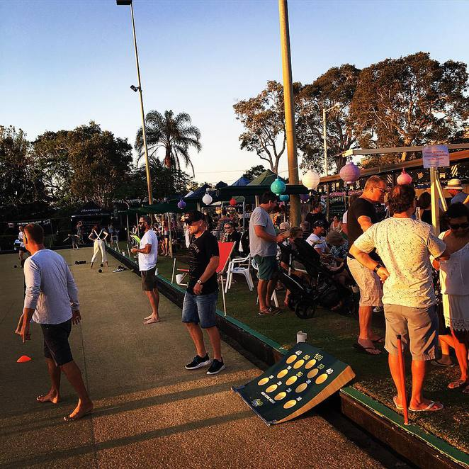 Social Market, barefoot bowls, night market, Mermaid Beach, bowls club