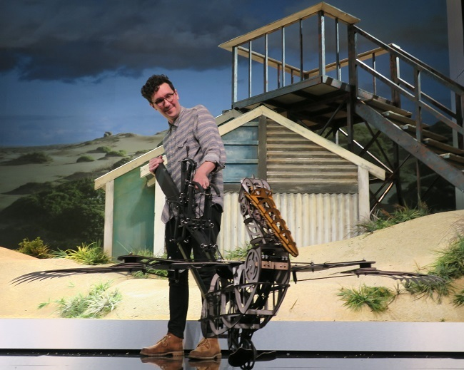 storm boy, colin thiele, puppets, puppeteer, playhouse, qpac, may cross, beady eyes