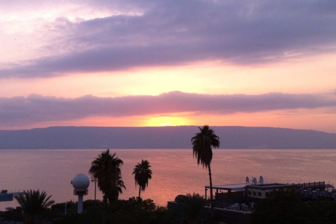 Sunrise over Sea of Galilee
