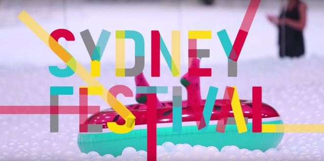 sydney festival, beach at the cutaway, white balls, pool, barangaroo, reserve