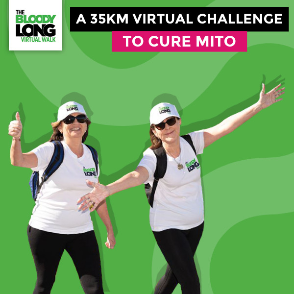 the 2020 bloody long virtual walk australia wide, community event, fun things to do, fundraiser, charity, donations, virtual walking challenge fundraiser online, fundraiser for the mito movement, fundraiser to cure mitochondrial disease, local hero fundraiser, walk for fitness and health, health lifestyle, achieve your fitness goals