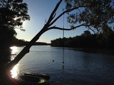 The Noosa river as the sun was setting - one of my favourite pictures from this trip