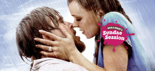 the notebook, ben and jerrys openair cinema, canberra, 2016, valentines day, dinners, moveis, cinema,