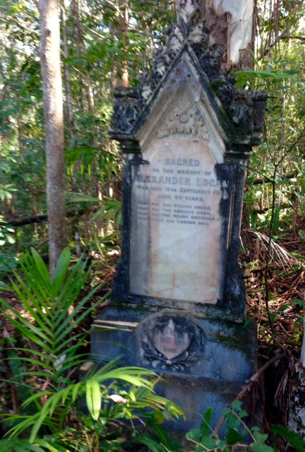 Tumbulgum Historic Cemetery, Pioneers, infant mortality rate, accidents, cedar getters, Rous River, history of Tweed, Established 1883, Alexander Logan,