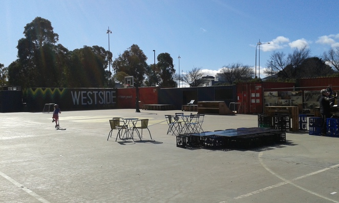 Westside Acton Park Stage 1, Lake Burley Griffin, Canberra, pop up village, shipping container village