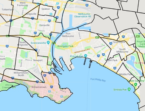 Williamstown Map Suburb