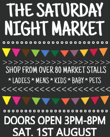The Saturday Night Market is your market place.