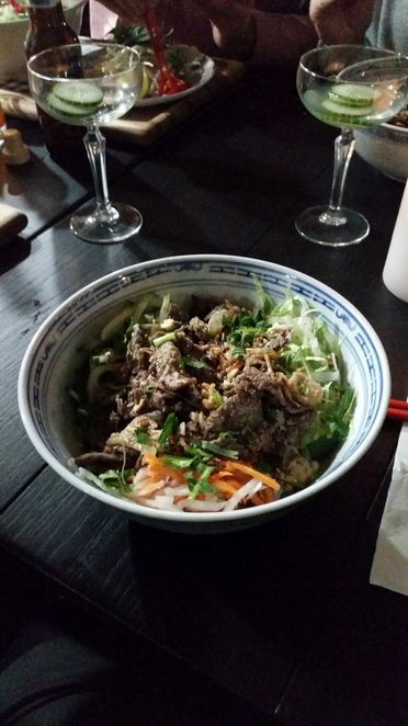 Lemongrass Beef Rice Vermicelli Noodles at Little Viet Kitchen Manly