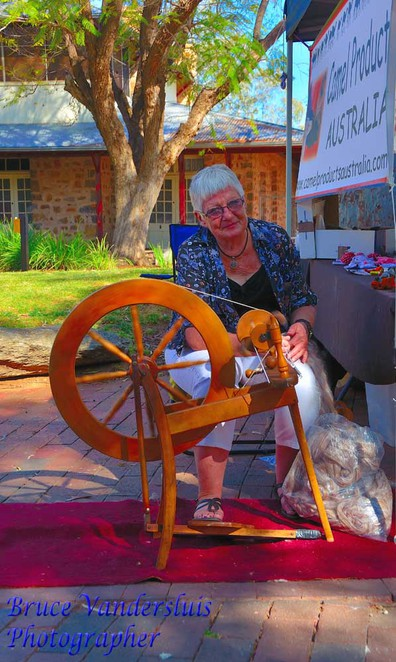 Alice Springs,markets,northern territory,australia,spinning,wool