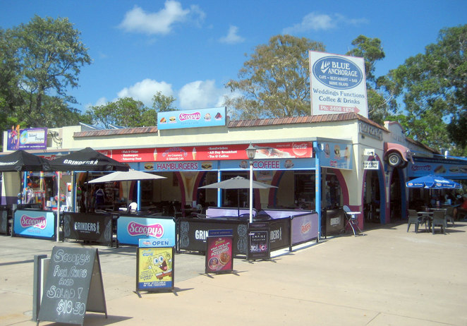 The famous Scoopy's Ice Creamery and Sidewalk Cafe