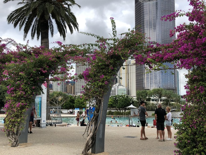 Brisbane, Streets Beach, lagoon, Southbank, Riverside Green Playground