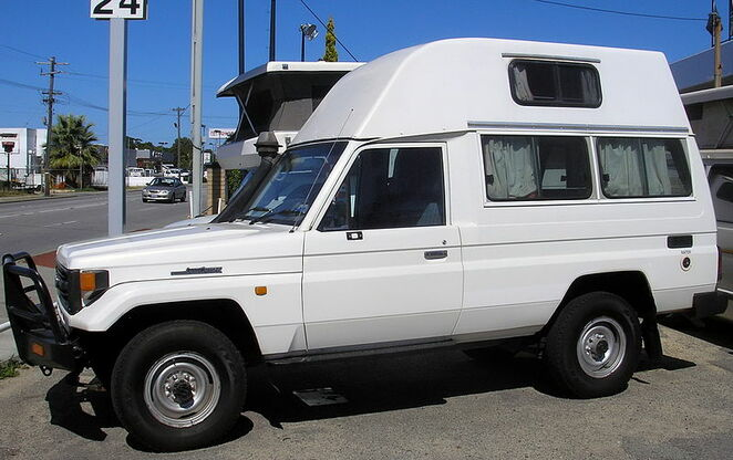 Image of a 4WD converted into a campervan courtesy of Nachoman-au @ Wikimedia