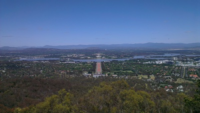 Canberra from Mount Ainslie Lookout 1