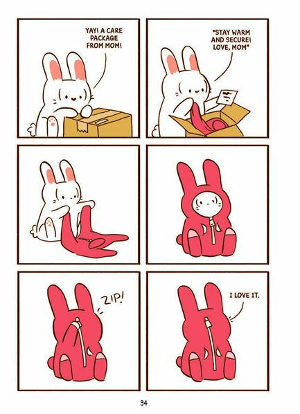 Cat's Cafe, comics, cute comics, comics about cats, books about cats, rabbit in a onesie