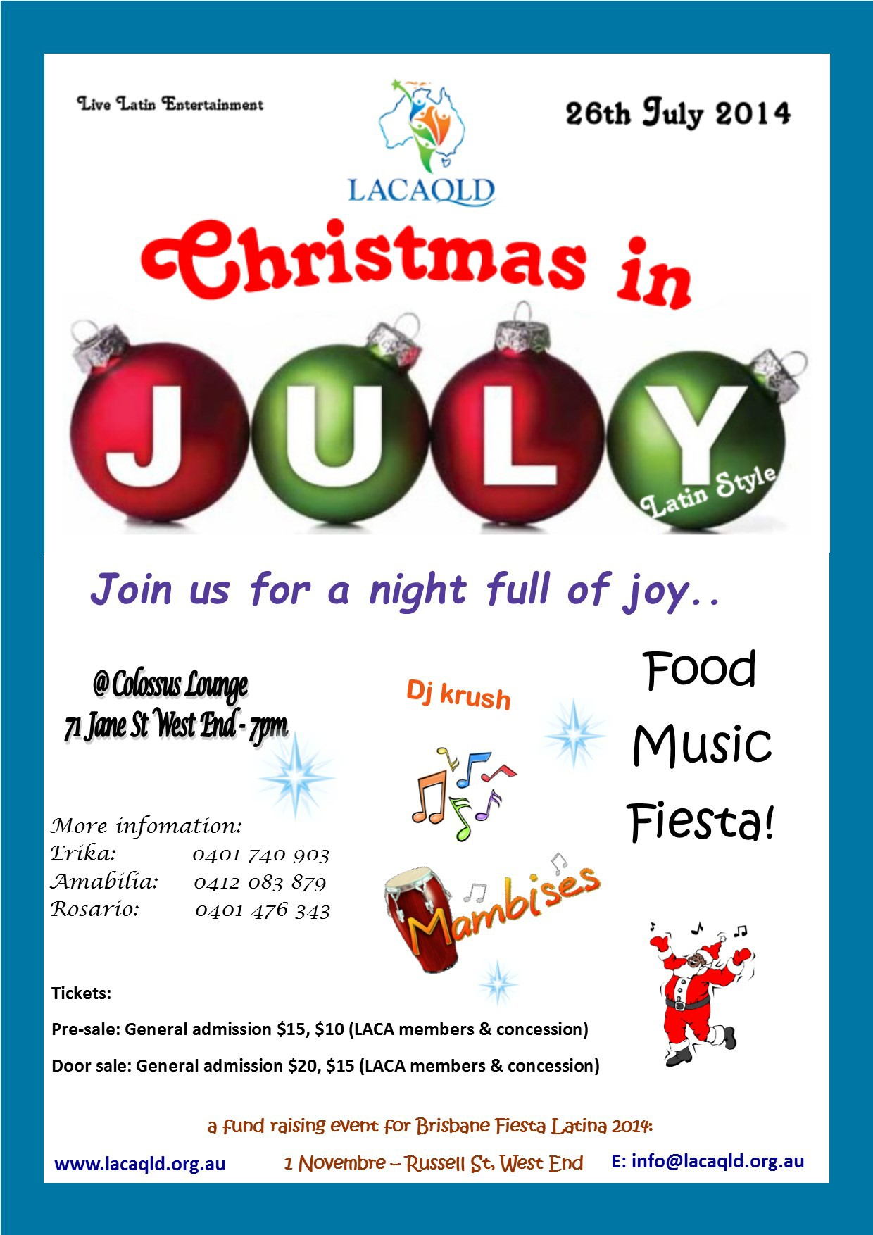 Christmas in July Latin Style Brisbane by Little L