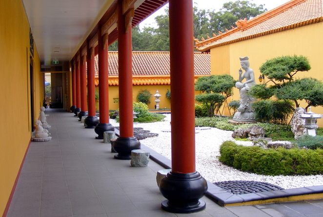The temple has various courtyards and gardens where you can relax