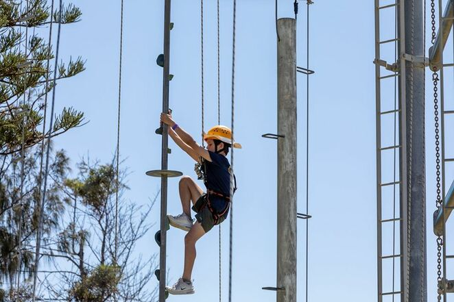 Coast Club Sunshine Coast, September school holidays, adventures, safe, challenging, families welcome, canoeing, caving, giant swing, body boarding, archery, surfing, daredevils, stand up paddle boarding, vertical climb, kayaking, Rock Face