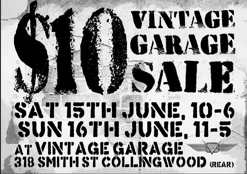 Collingwood Vintage Clothing Sale