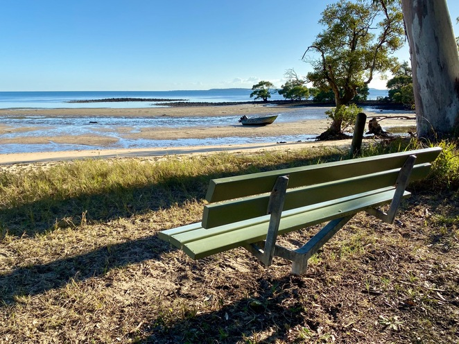 Morwong Beach is a wonderful spot to just sit and enjoy gorgeous views across Moreton Bay