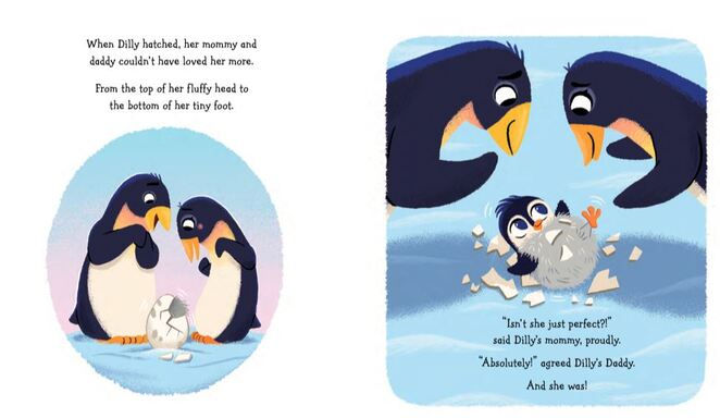 Delightfully Different Dilly, children's book, penguin book, books about disability for kids