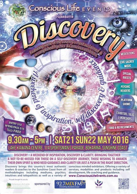 discovery expo, conscious life events, kawana community centre, sunshine coast, psychics, crystals,