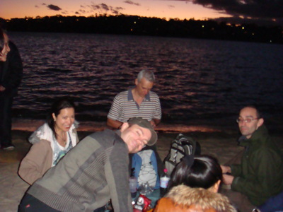 sunset beach picnic(with my walking group)