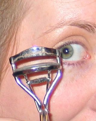 eyelash curler, green eye, make up, wedding