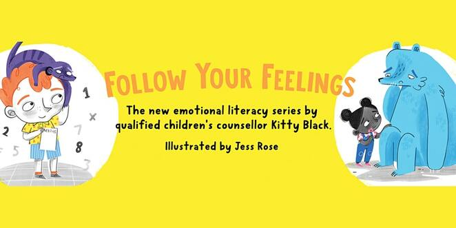follow your feelings, kitty black in conversation with josh langley, emotional literacy series, qualified children's counsellor, community event, funt hings to do, children's books